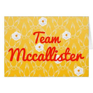 Equipo Mccallister Tarjeta De Felicitación