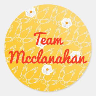 Equipo Mcclanahan Pegatina Redonda