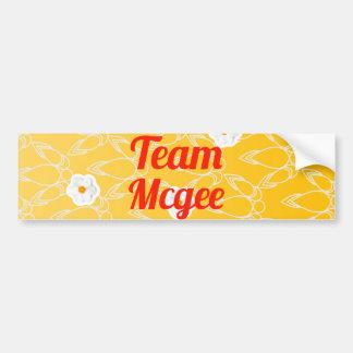 Equipo Mcgee Etiqueta De Parachoque