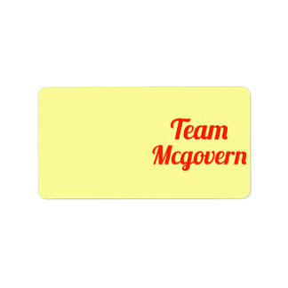 Equipo Mcgovern Etiqueta De Dirección