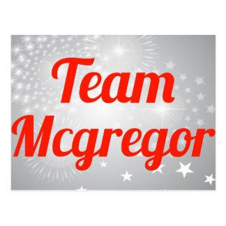Equipo Mcgregor Tarjeta Postal