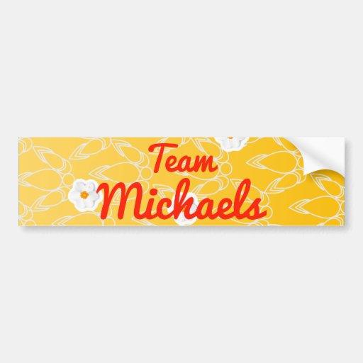 Equipo Michaels Pegatina Para Auto