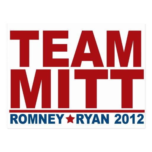 Equipo Mitt Romney Ryan 2012 Postal
