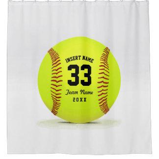 Equipo moderno del softball cortina de baño