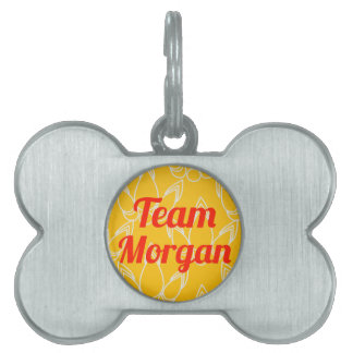 Equipo Morgan Placas De Nombre De Mascota