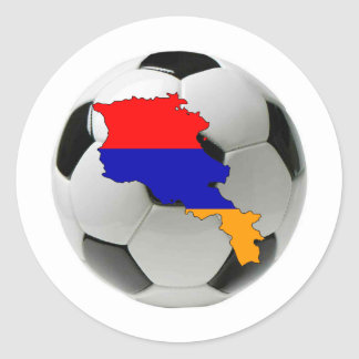 Equipo nacional de Armenia Pegatina Redonda