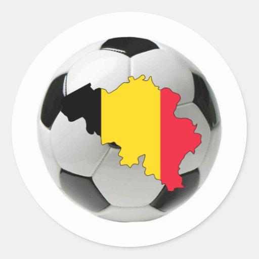 Equipo nacional de Bélgica Pegatinas Redondas