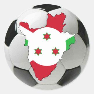 Equipo nacional de Burundi Pegatina Redonda