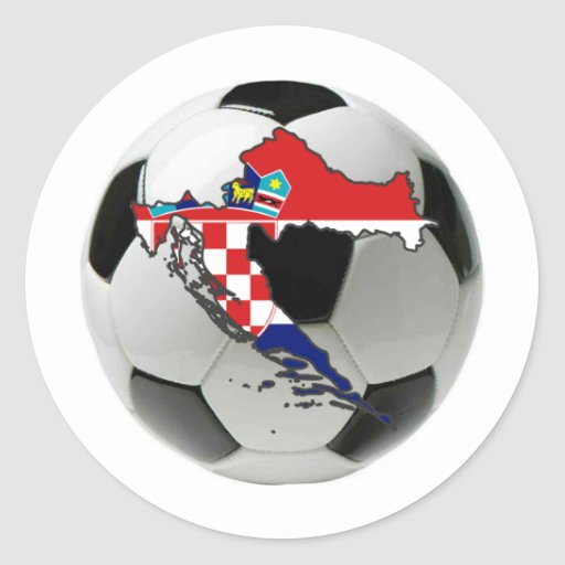Equipo nacional de Croacia Pegatina Redonda