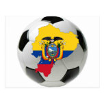 Equipo nacional de Ecuador Tarjeta Postal