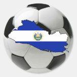 Equipo nacional de El Salvador Pegatina Redonda
