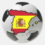 Equipo nacional de España Pegatinas Redondas