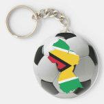 Equipo nacional de Guyana Llavero Redondo Tipo Pin