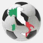 Equipo nacional de Italia Pegatina Redonda