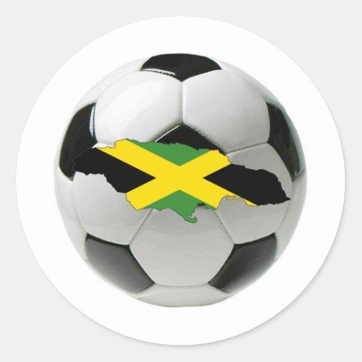 Equipo nacional de Jamaica Pegatina Redonda