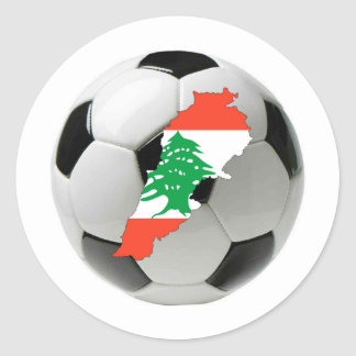 Equipo nacional de Líbano Pegatina Redonda