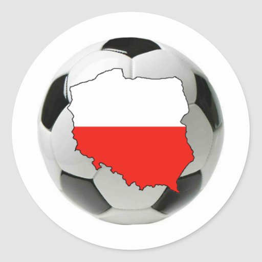 Equipo nacional de Polonia Pegatina Redonda
