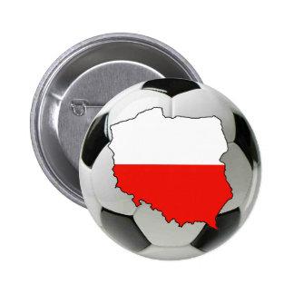 Equipo nacional de Polonia Pin Redondo De 2 Pulgadas