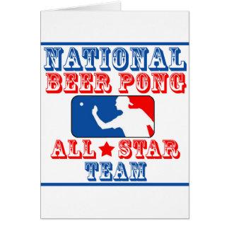 Equipo nacional de Pong de la cerveza Tarjeta De Felicitación