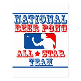 Equipo nacional de Pong de la cerveza Postal
