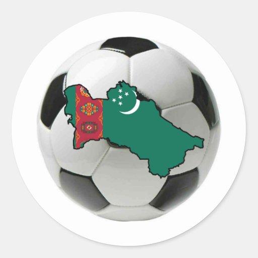 Equipo nacional de Turkmenistán Pegatina Redonda