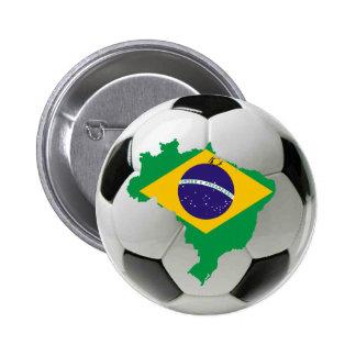 Equipo nacional del Brasil Pin Redondo 5 Cm