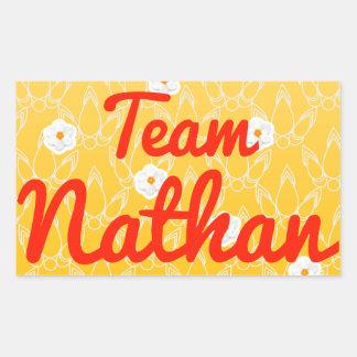 Equipo Nathan Pegatina Rectangular