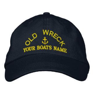 Equipo navegante personalizado divertido del yate gorros bordados