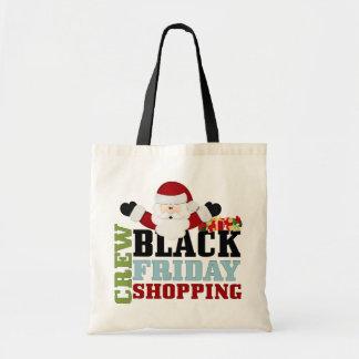 Equipo negro de las compras de viernes bolsa tela barata