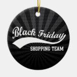 Equipo negro de las compras de viernes ornamentos de reyes