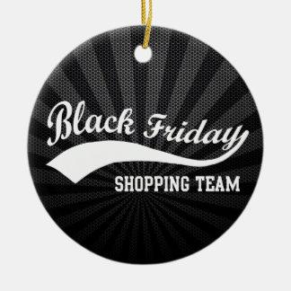 Equipo negro de las compras de viernes adorno redondo de cerámica