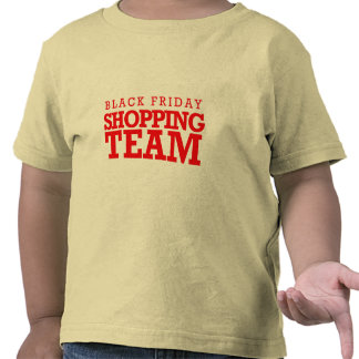 Equipo negro de las compras de viernes -- Humor Camisetas