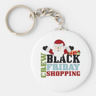 Equipo negro de las compras de viernes llaveros