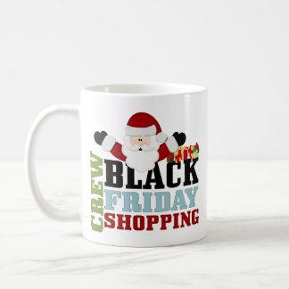 Equipo negro de las compras de viernes tazas