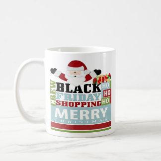 Equipo negro de las compras de viernes taza