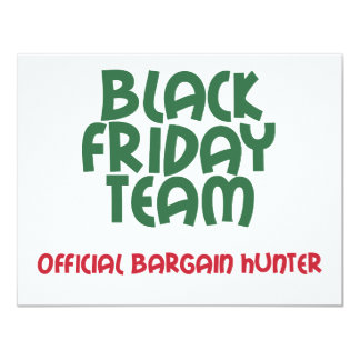 """Equipo negro de viernes: Cazador de negocio Invitación 4.25"""" X 5.5"""""""
