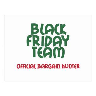Equipo negro de viernes: Cazador de negocio Tarjeta Postal