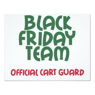 """Equipo negro de viernes: Guardia oficial del carro Invitación 4.25"""" X 5.5"""""""