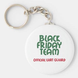 Equipo negro de viernes: Guardia oficial del carro Llavero Redondo Tipo Pin