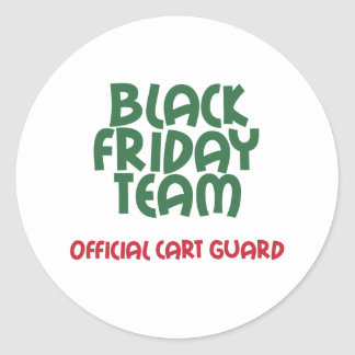 Equipo negro de viernes: Guardia oficial del carro Pegatina Redonda