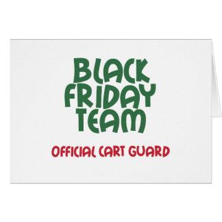 Equipo negro de viernes: Guardia oficial del carro Tarjeta De Felicitación