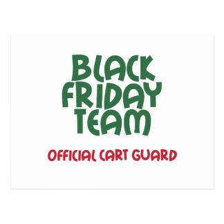 Equipo negro de viernes: Guardia oficial del carro Tarjeta Postal