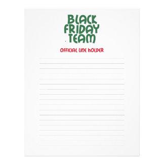 Equipo negro de viernes: Línea oficial tenedor Tarjeton