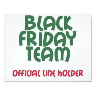 """Equipo negro de viernes: Línea oficial tenedor Invitación 4.25"""" X 5.5"""""""
