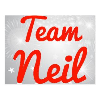 Equipo Neil Tarjeta Postal