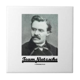 Equipo Nietzsche (Friedrich Nietzsche) Azulejo Cuadrado Pequeño