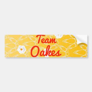 Equipo Oakes Etiqueta De Parachoque