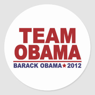 Equipo Obama 2012 Etiquetas Redondas