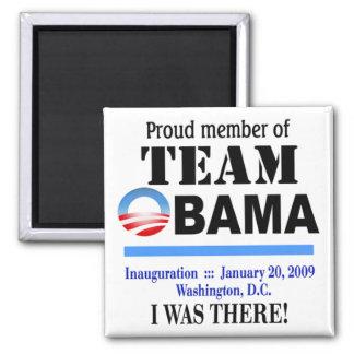 Equipo Obama - estaba allí el imán (blanco)