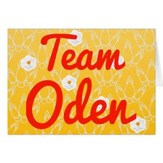 Equipo Oden Tarjetas